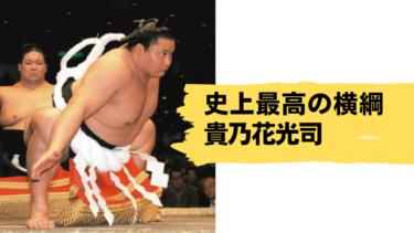 史上最高の横綱「第65代横綱貴乃花光司」